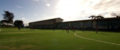Multi-purpose sports pitch, township school, South Africa