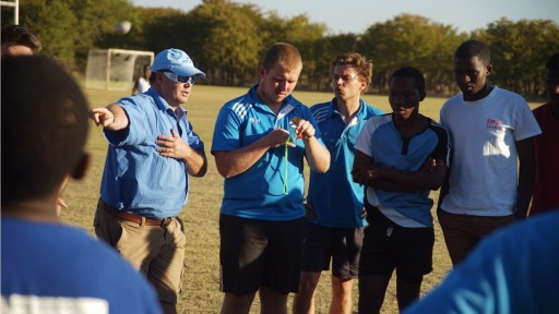 Coach education in Maun with the Pride