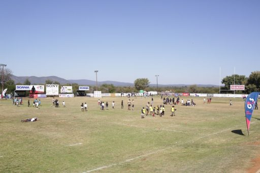 BPF rugby coaching program in Gaborone with G4S Botswana