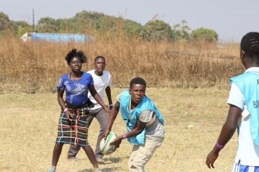 Kabwe rugby coaching program, Zambia
